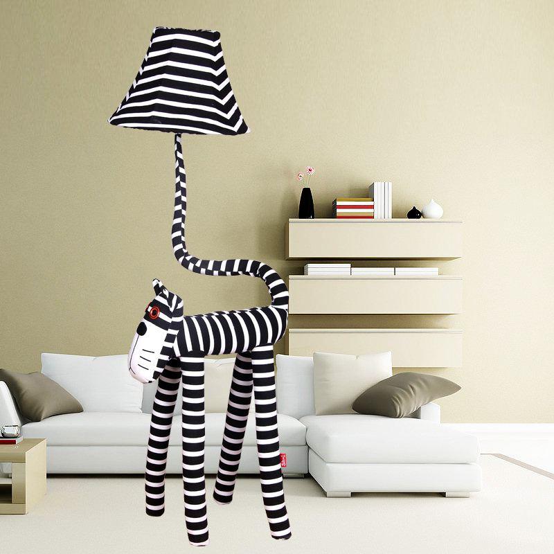 Stripe Cat Children S Room Floor Lamp