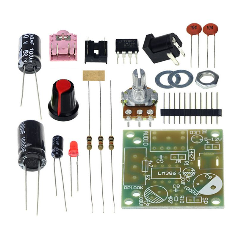 LM386 Super Mini Power Amplifier Board 3V-12V DIY Kit Super High Quality