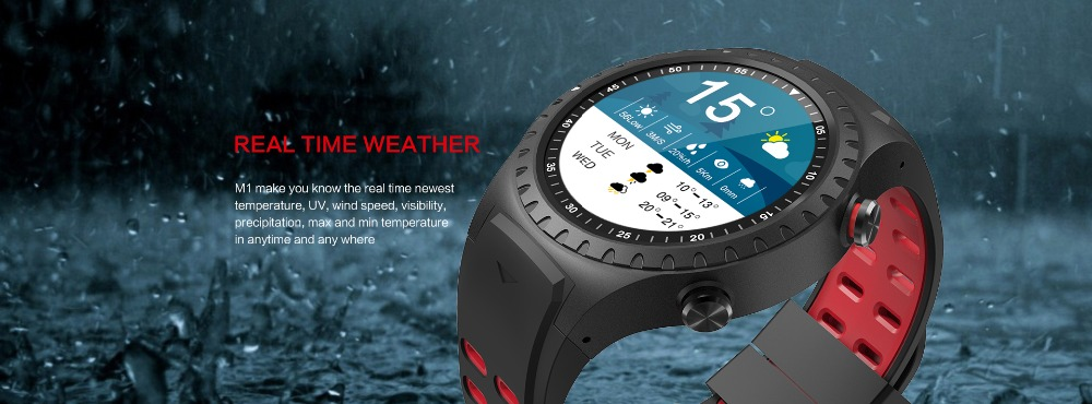LEMFO M1 Men's Bluetooth Smart Watch With GPS IP67 Waterproof Heart Rate Monitor And Long Standby Time 10