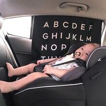 Функциональный автомобильный солнцезащитный козырек для детей раннего образования 26 Английских Букв Новорожденный ребенок невыгорающий покрытие магнитная палочка оконный занавес