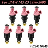 #0280150440 #852 12157 6Pcs New Front Pink Fuel Injector Flow Replacement For BMW M3 Z3 1996 1997 1998 1999 2000