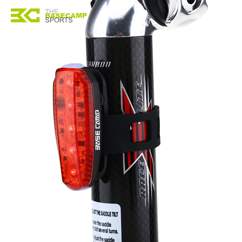 BASECAMP Bike Safety LED Light Mountain Road Bicycle Light Rear Warning Red Lights Night Cycling Running Lamp Backlight M5006 mountain bike four perlin disc hubs 32 holes high quality lightweight flexible rotation bicycle hubs bzh002