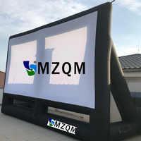 Riesen größe L 8m x H 6 m aufblasbare leinwand im freien aufblasbare film bildschirm Hohe qualität weichen material