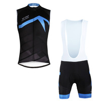 Summer Breathable Men S Sleeveless Cycling Jersey Black Bike Clothes Size S To 6XL
