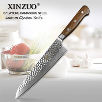 XINZUO 8 Inch Chef S Knife Damascus Kitchen Knife Woman Chef Knife Rosewood Handle Stainless Steel