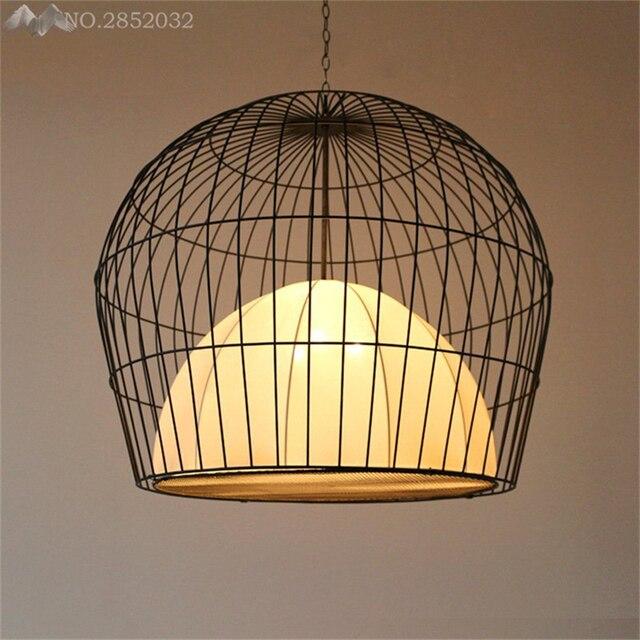 JW _ Chinois Style Cage À Oiseaux Pendentif Lampe De Fer Pendentif ...