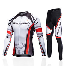 Men Breathable Gel Pad Cycling Clothing Winter Thermal Fleece Cycling Jersey Set Bike Bicycle MTB Clothes Ropa Ciclismo Invierno bxio winter cycling jersey thermal fleece pro team bike clothing long sleeves bicycle clothes invierno ropa ciclismo hombres 092