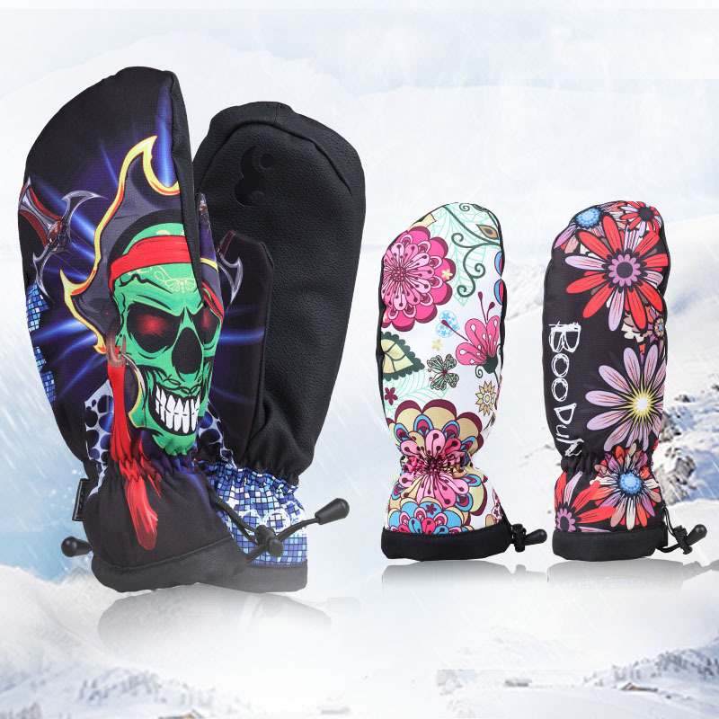 Brand Winter Snowboard Gloves for Men Women Ski Gloves Windproof Waterproof Non-slip Skating Skiing Gloves Cotton Warm Mittens