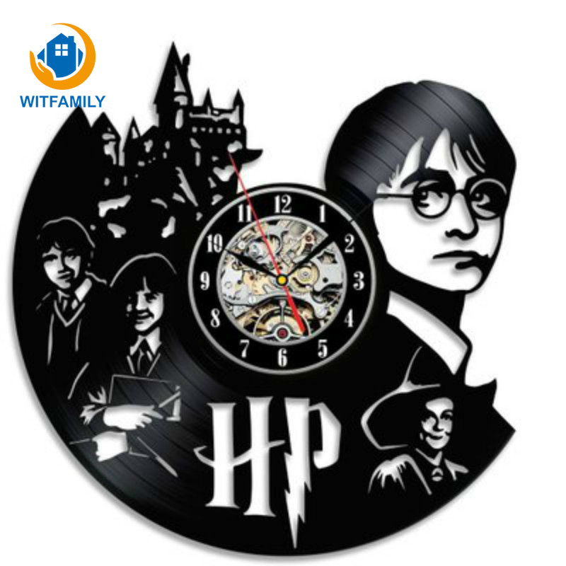 Harry Potter Hermione Granger Vinyl Record Clock Creative and Classic CD Record Wall Clock Room Art Decor Handmade LED Clock