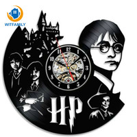 Harry Potter Hermione Granger Vinyl Record Clock Creative and Classic CD Record Wall Clock Room Art Decor Handmade LED Clock