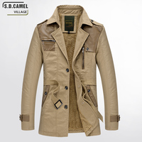 Brand Windbreaker Jacket Men Cotton casual long windbreaker jackets men black tactical coats plus size 3XL Jacket clothes