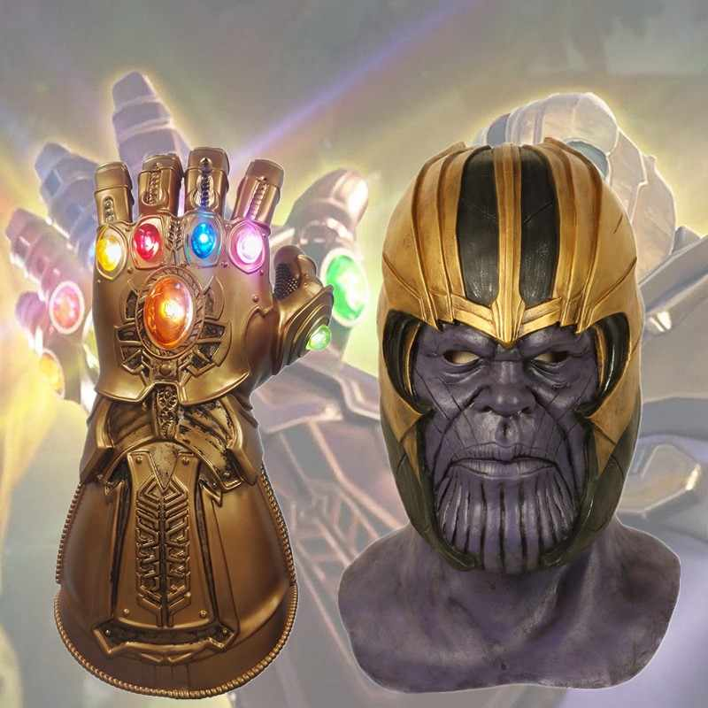 Avengers 4 Endgame Thanos Mask Cosplay Helmet Marvel Superhero Latex Masks Infinity Gauntlet Halloween Party Deluxe Props