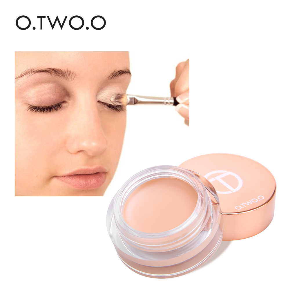 O. Dos. O corrector de Primer ojo maquillaje base cremoso corrector de larga duración fácil de llevar crema hidratante Control de aceite ilumina la piel