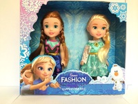 High Quality 2 Pcs Set Adventure Queen Princess Doll Anna Elsa Snow Toy Doll For Girl