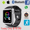 2016 Relógio Inteligente A1 W8 Com Sim Card Camera Bluetooth Smartwatch Para Android ISO apple huawei Wearable Dispositivos Whatsapp Facebook