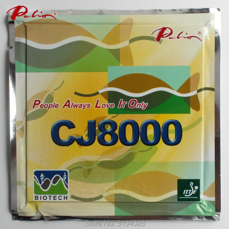 Palio Official Long Term CJ8000 39-41 Table Tennis Rubber BIOTECH Technilogy Fast Attack Loop Little Sticky Table Tennis Racket