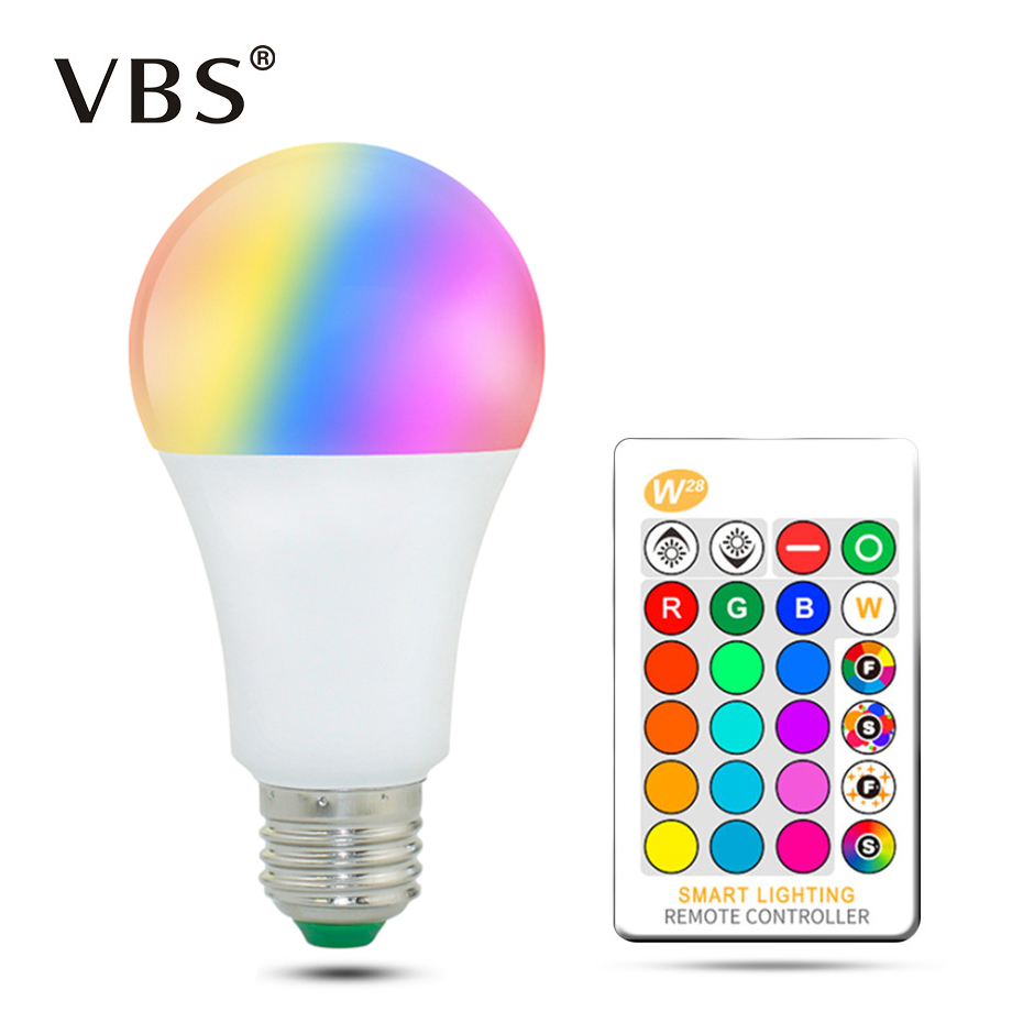 E27 LED Bulb Lamp 5W 10W 15W RGB + White 16 Color LED Lamp SMD5050 + SMD2835 Changeable RGB Bulb Light With Remote Control r7s led lamp 78mm 118mm 5w 10w led r7s light corn bulb smd2835 led flood light 85 265v replace halogen floodlight