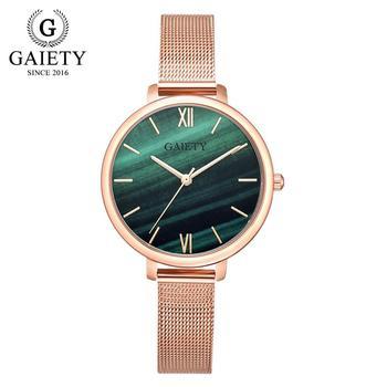 Gaiety Luxury 2 PCS Set Watch Women Rose Gold Water Drill Bracelet Watch Jewelry Ladies Female Hour Casual Quartz Wristwatches 15