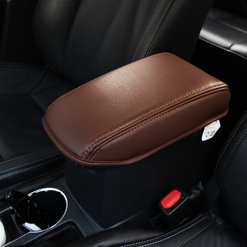 Car Styling Pad Cover fiber Leather Storage Protection Cushion Center Auto Seat Armrests Box Pads For 2014-2017 Toyota Corolla