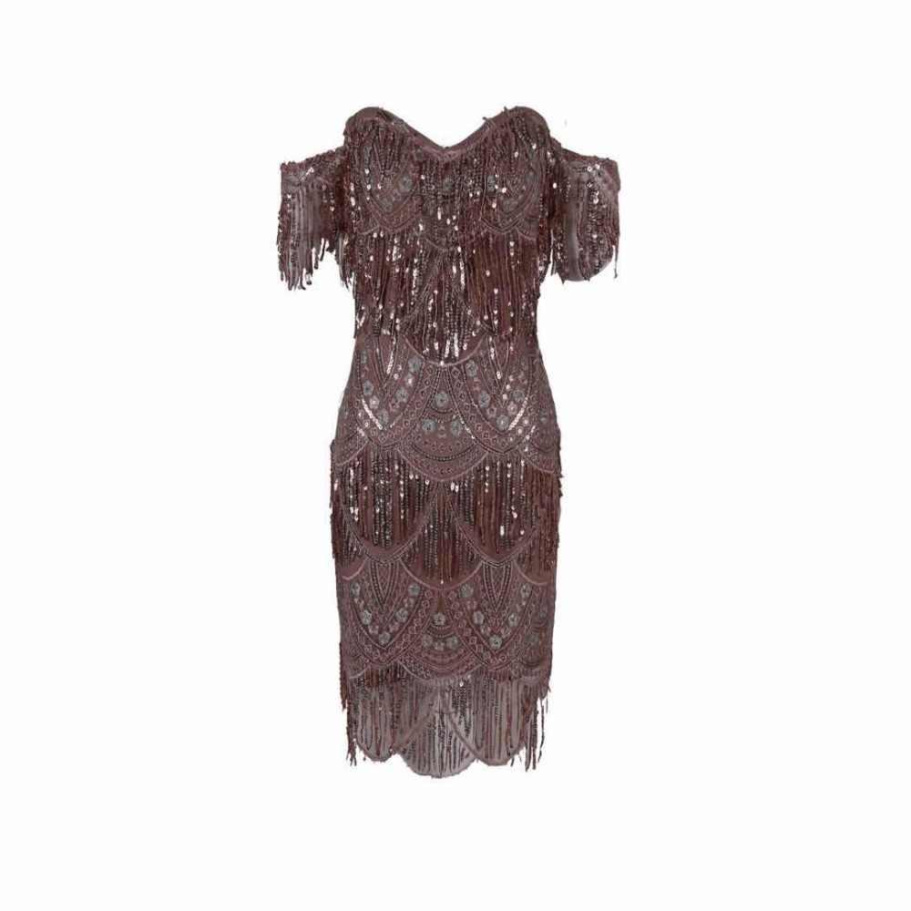 2019 Новое поступление женские элегантные коричневые без бретелек с открытыми плечами с коротким рукавом облегающие вечерние платья знаменитостей