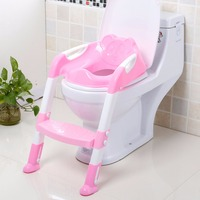 2 colors infant children kids baby toilet training non slip folding potty trainer safety seat chair step with adjustable ladder