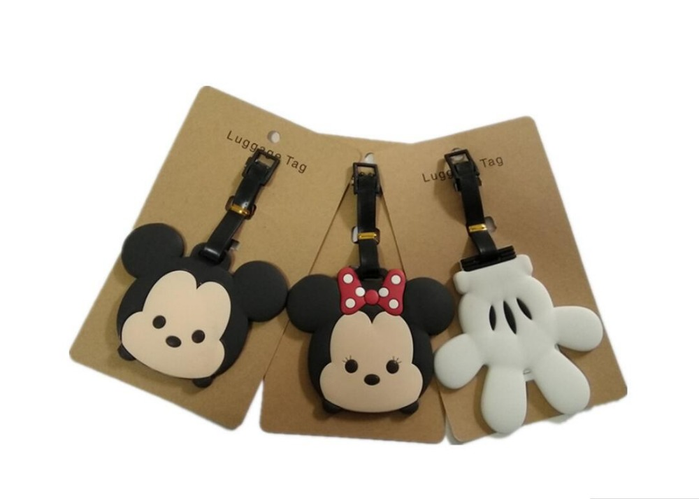 IVYYE Mickey Minnie Anime Travel Accessories Luggage Tag Suitcase ID Address Portable Tags Holder Baggage Label New