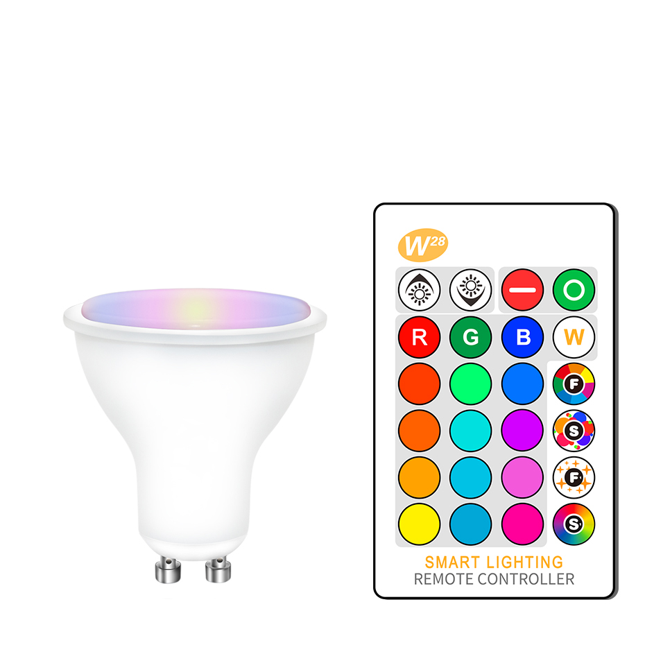 Dimmable Ampoule Led Gu10 110V 220V Spotlight Bulb 8W RGBW RGBWW Lampadine Led Light Bulbs 16 Colors Remote Controller For Home