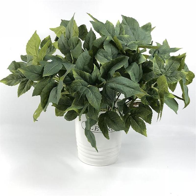 Fake Bougainvillea Bunch (7 stems/piece) Simulation Bougainvilleas Green Plant for Wedding Home Decorative Artificial Plants