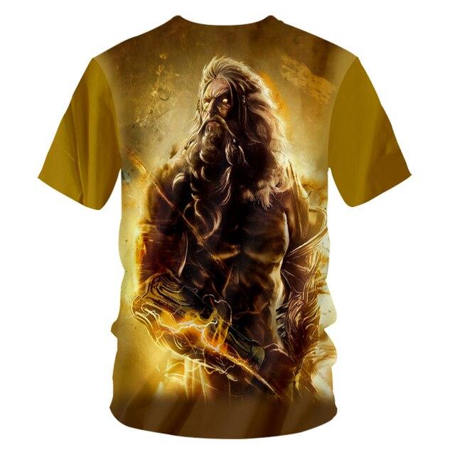 CJLM God Of War Tshirts Casual T-shirt Unisex O Neck Tees Shirts 7XL 4