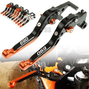 For KTM 690 DUKE/DUKER/SMC/SMC R/SM/ENDURO R CNC Aluminum Motorcycle Adjustable Folding Foldable Extendable Brake Clutch Levers цена 2017
