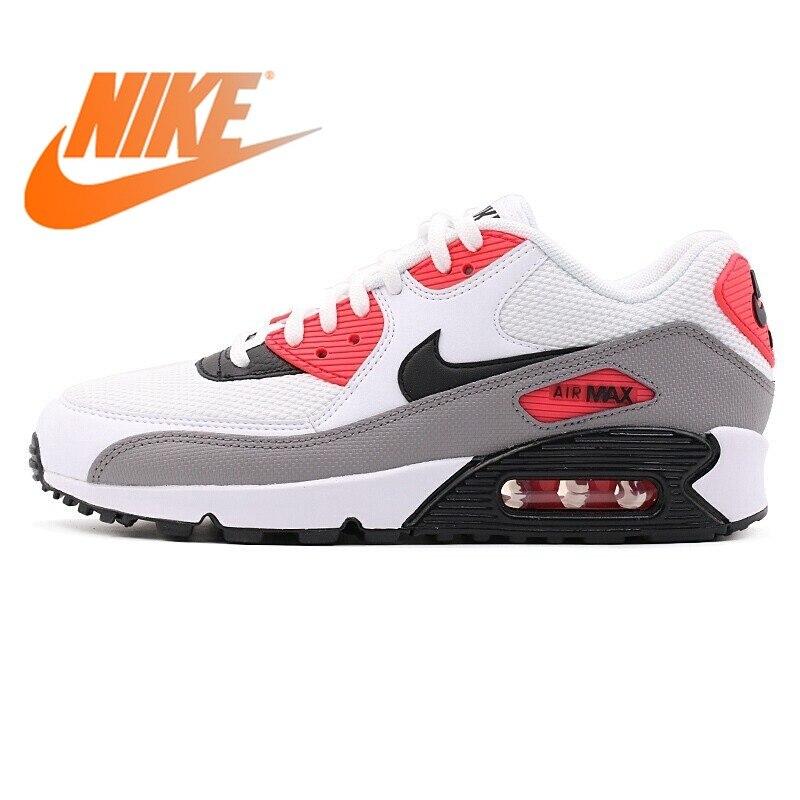 Оригинальные женские кроссовки для бега NIKE AIR MAX 90 LE, дышащие, на шнуровке, амортизирующие, низкие, удобные, прочные, 325213 132