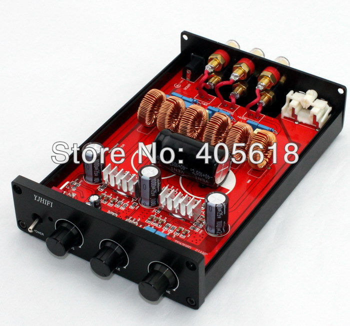 TPA3116 2.1 2x50W+100W Class D AMP Amplifier Board assemble with CaseTPA3116 2.1 2x50W+100W Class D AMP Amplifier Board assemble with Case