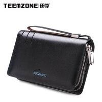 Teemzone 2016 new classic vintage designer d'affaires décontractée poignet embrayage sac hommes de sac de téléphone sacs à main j50