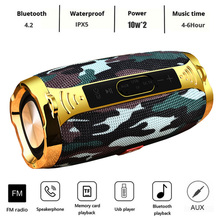 цена LIGE Portable wireless Bluetooth Speaker Stereo Big Power 20W System TF FM Radio Music Subwoofer Column Speakers for Computer