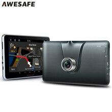 Nueva 7 pulgadas de Coches de Navegación GPS Android 16 GB FHD 1080 P DVR Registrador de la Cámara Bluetooth MT8127 Quad-core procesador Camión vehículo gps