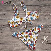 2018 New Sexy Bowknot Bikini Vintage Swimwear Women Swimsuit Summer Beach Wear Push Up Bikinis Set