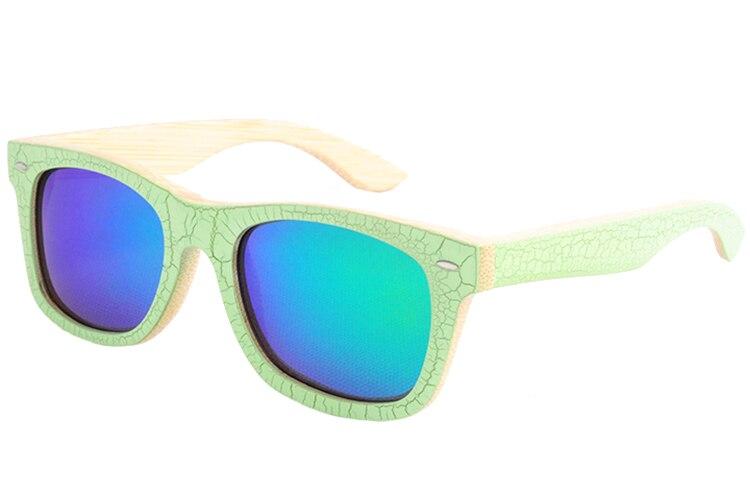 dc9ef6b52 Lonsy الأصلي الخيزران نظارات الرجال الاستقطاب النظارات النساء العلامة  التجارية تصميم خمر مع شعار oculos دي سول feminino LS1001