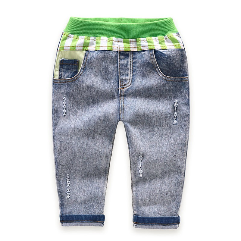 Children Jeans Boys Girls Sring Autumn Full Length Jeans Pants Cotton Fashion Casual Style with convenient Elastic Waist 1