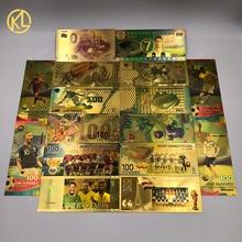 Водонепроницаемая Высококачественная Золотая банкнота для домашних животных с российским спортивным изображением для любителей футбола сувенирные подарки