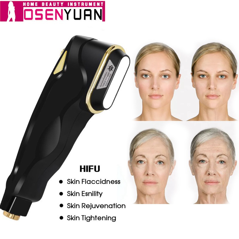 2019 Ultrasonic Mini HIFU Skin Rejuvenation RF Face Lifting Beauty Therapy Wrinkle Removal Ultrasound Skin Care Device