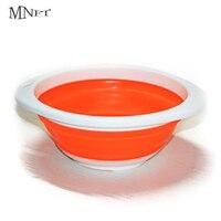 MNFT 1Pcs 접는 미끼 분지 3 크기 혼합 미끼 플라스틱 냄비 내구성 실리카 젤 컨테이너 잉어 낚시 라이브 미끼 비 스틱 컵