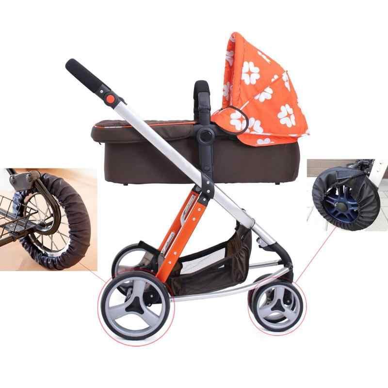 1 Pc Útil Bebê Carrinho de Oxford Cadeira de Rodas Roda Covers Manter Limpo Capa Protetora À Prova de Poeira para Acessórios do Bebê Carrinho Carrinho de criança