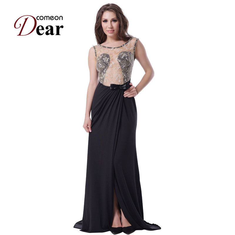 R70347 Unique design women maxi dress o-neck sleeveless floor length long dress with lace beautiful dress party evening elegant