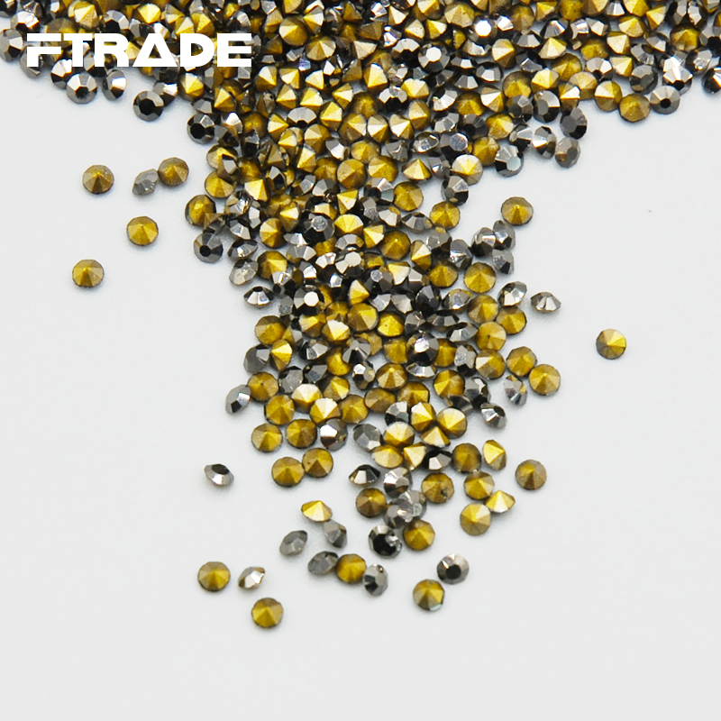 Quality AAA SS3 SS20 1440pcs Shine Mine Black Color Point Back Rhinestones  Crystal Chaton Glue Beads Stones Nail Art Craft Gems-in Rhinestones from  Home ... 6b4bf0865554