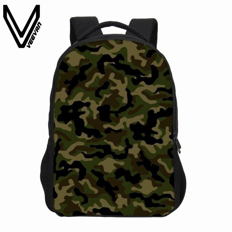 Veevanv New Teenagers School Bag Fashion Army Green Printing Backpacks Boys Laptop Backpack Vintage Children Shoulder Bags Girls