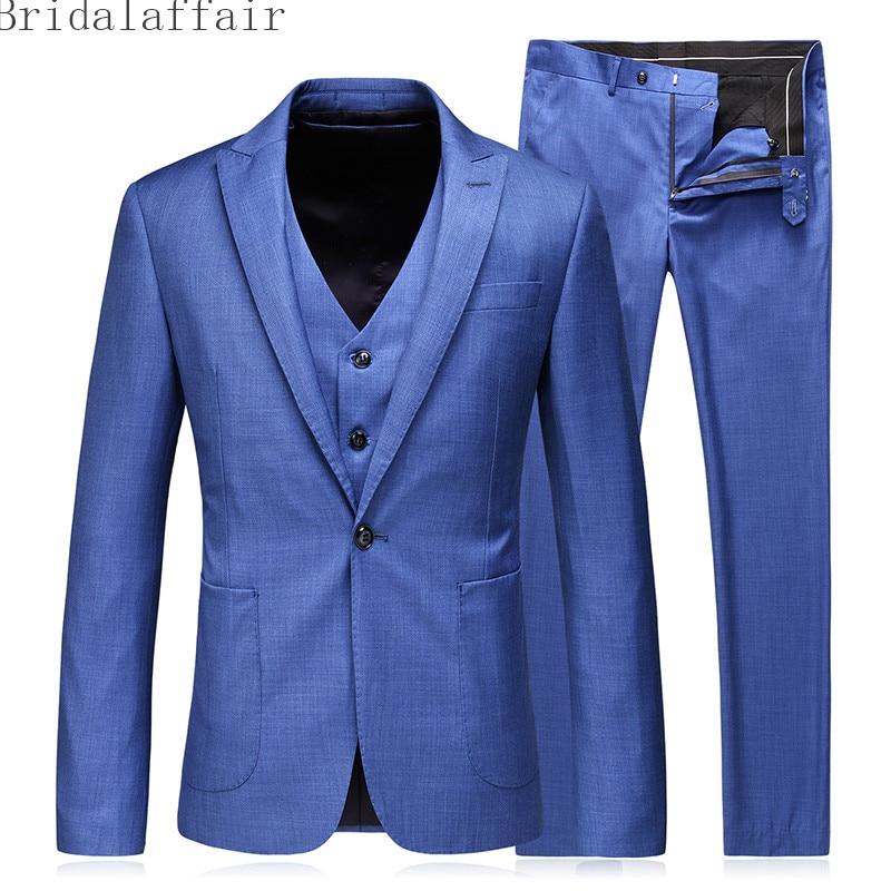 Image Fit Diseños Chaleco chaqueta Capa Azul Traje Formal Negocios Bragas  Hombres Boda same Pantalones Últimos Hombre 2018 ... 63d3f52598e