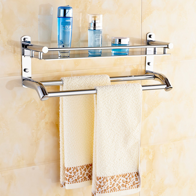 free shipping 304 stainless steel towel shelf towel bar towel rack ...