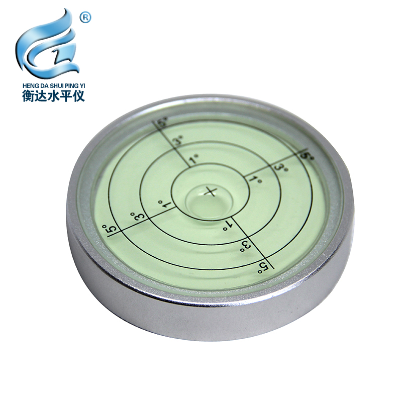 Aluminum Alloy Material 74*15mm with Night Light Circular Bubble Level Instrument