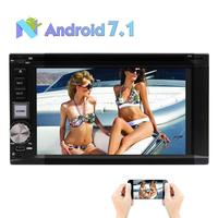 Android 7.1 Car Stereo DVD Player 2 Din In Dash 8 core Car Radio Multimedia Navigation 6.2 Bluetooth Wifi GPS Rearview Camera