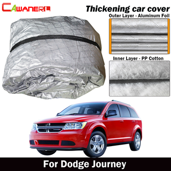 Cawanerl For Dodge Journey Three Layer Thick Car Cover Outdoor Sun Shade Rain Snow Hail Resistant Cover Waterproof